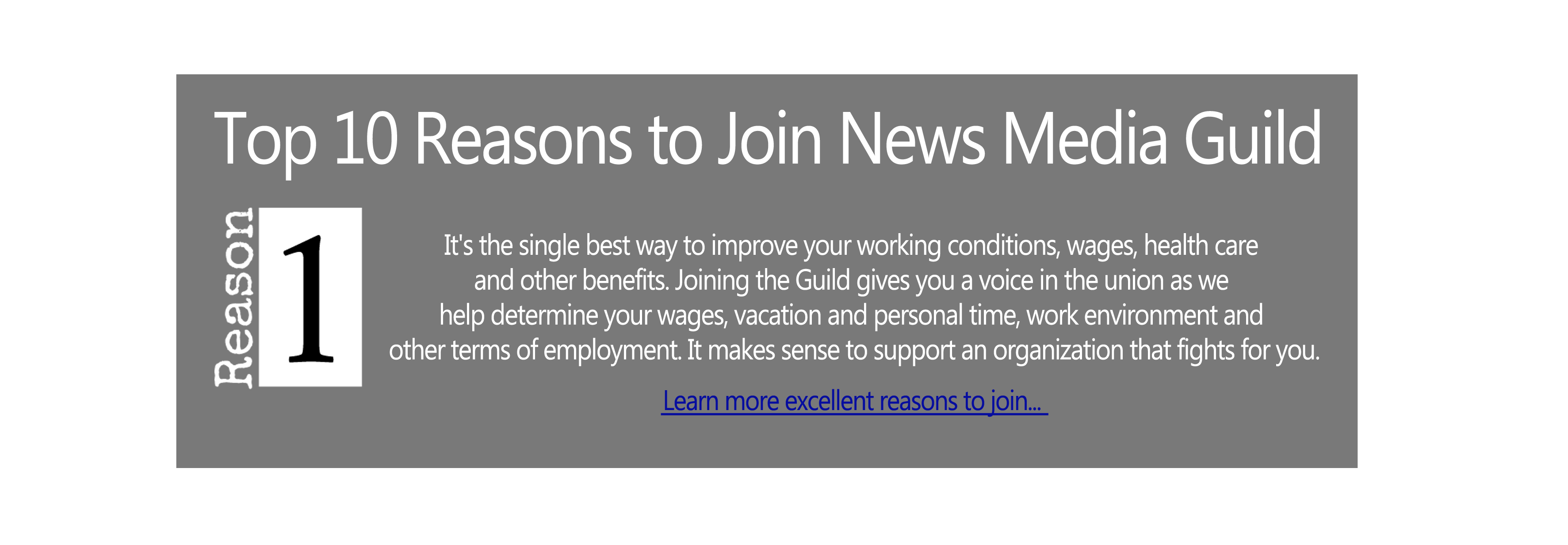 Top 10 Reasons to Join news Media Guild