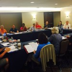 Members of NMG's Representative Assembly and Executive Committee meet Saturday, Aug. 8, 2015.